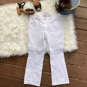Lilly Pulitzer Embroidered Butterfly/ Flower Jeans